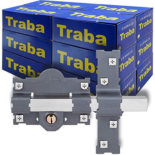 FAC SEGURIDAD - Caja de cerrojos para puertas modelo Traba 101-L de 50mm y acabado pintado FAC Seguridad (12 unidades)