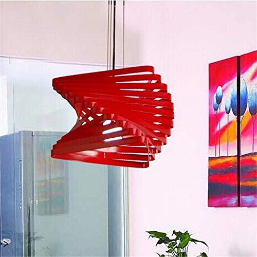 Lightoray Lampada a sospensione Ferro da stiro moderno minimalista Led rosso 1 si accende Plafoniera lampadario per Bar Ristorante Ufficio cucina, soggiorno, camera da letto