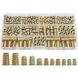 ETXP M4 / M5 / M6 / M8 Tuerca de inserción roscada, Conjunto de Herramientas de Madera Surtido, Tornillo de Muebles Insertar Perno de Cierre (165 PCS) Apto para vehículos (Color : 1 Set)