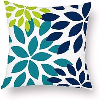 Decorative Pillows - 45 * 45cm Square Decorative Throw Pillow Case Geometric Striped Print Flower Pillowcase For Home Bedr...