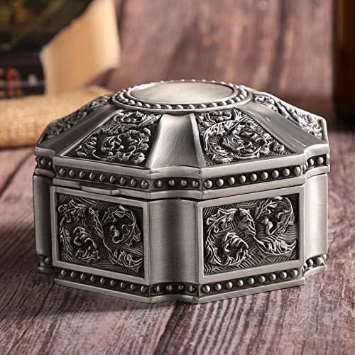 Snufeve6 Caja organizadora de joyería, Caja de Almacenamiento de joyería de aleación, Collar de Uso en la Oficina, Uso doméstico para Guardar artículos pequeños, Pendientes