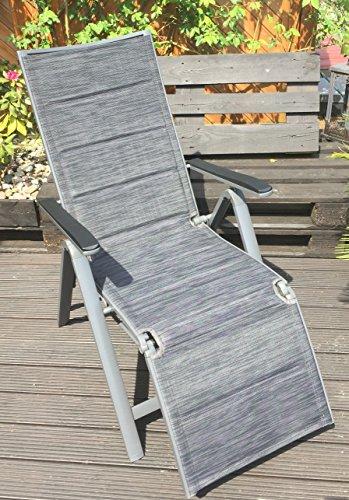 Garden Feelings Relaxsessel Aluminium Alu-Relaxsessel 7-Fach verstellbar (Schwarz)