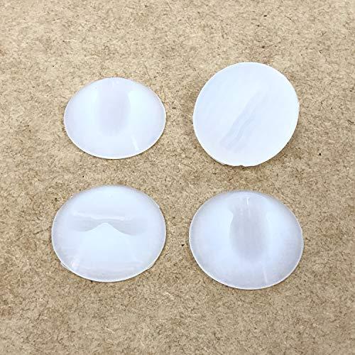 Protectores de patas de horquilla – Protectores de goma antideslizantes para suelos duros – Universal para barras de acero de 10 mm y 12 mm (4, Frost)