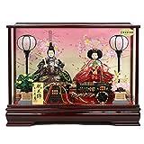 雛人形 久月 ケース飾り 親王飾り 小三五親王 アクリルケース オルゴール付 HNQ-5958-M ケース飾り 人形の久月 ひな人形