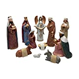 Comfy Hour Baby Jesus Holy Family with Angel Christmas Nativity Scene Figurine, Stable Set of 11 Pieces, Perfect for Christmas