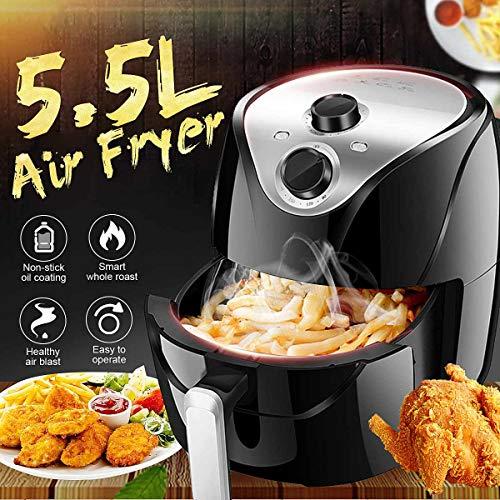 SISHUINIANHUA 1500W 220V 5.5L Air Fryer elektrische Friteuse 360 ° High-Speed Hot Luftzirkulation Multi-Funktions-Herd Ofen Low Fat Gesundheit Pan