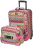 Rockland Fashion Softside Upright Luggage Set, Tribal, 2-Piece (14/19)
