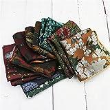 NJZYB 5pcs / set Polyester Pocket Plaza for Adultos Adultos Hombre Handkerchief Flowers 23 cm Pañuelo (Color : Multicolor, Size : 9 * 9inch)