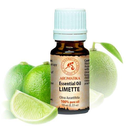 Limettenöl Ätherisch 10ml - Citrus Aurantifolia - Mexiko - 100{0192b3ea9c7228e69542e759c8243a767d603a66b4cfc72ecdce57a485ea9977} Reine & Natürliche Ätherische Öle Limette für Beauty - Aromatherapie - Duftlampe - Raumduft - Lime Öl