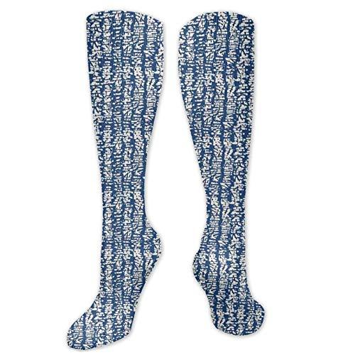 Bingyingne Personalizado unisex, diseño folclórico japonés Obra de arte abstracta en acuarela con aspecto desordenado manchado, calcetines hasta la rodilla Cool Sport Travels Long Stockings 60cm