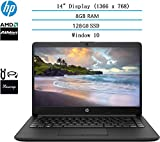 2020 HP 14 inch HD Laptop Newest for Business and Student, AMD Athlon Silver 3050U (Beat i5-7200U), 8GB DDR4 RAM, 128GB SSD, 802.11ac, WiFi, Bluetooth, HDMI, Windows 10 w/HESVAP 3in1 Accessories