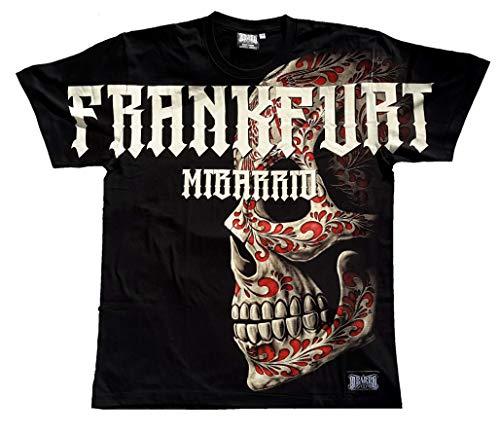 Mi Barrio All Over Frankfurt Bembel Skull Herren T-Shirt in schwarz !!! Achtung Shirt FÄLLT EHER WIE 3XL aus. bei größe XXL einfach XL kaufen !!! (XXL)