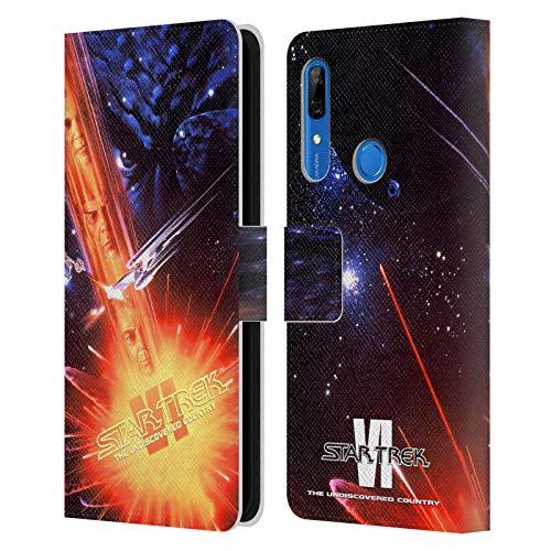 Head Case Designs sous Licence Officielle Star Trek Le Pays Non Découvert Affiches de Film TOS Coque en Cuir à Portefeuille Compatible avec Huawei P Smart Z / Y9 Prime