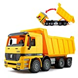 Liberty Imports 15 inches Oversized Friction Dump Truck Construction Vehicle Toy for Kids