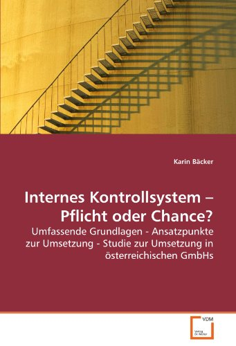 Internes Kontrollsystem ? Pflicht oder Chance?: Umfassende Grundlagen - Ansatzpunkte zur Umsetzung - Studie zur Umsetzung in österreichischen GmbHs