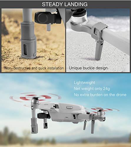 CUEYU Landing Gear Bein für DJI Mavic Air 2 Drone, 4 Stück Erweiterte Fahrwerk Landefüße für DJI Mavic Air 2 Drone, Schnelle Installation