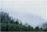 1000 piezas: colinas resistentes en la niebla de la mañana Rompecabezas de madera DIY Niños Rompecabezas educativos Regalo de descompresión para adultos Juegos creativos Juguetes Rompecabezas 4