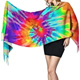 Bufanda de mantón Mujer Chales para, Tie Dye Bufanda cálida de invierno para mujer Moda Bufandas largas grandes y suaves de cachemira Mantón