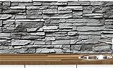 KLINOO Küchenrückwand in Steinoptik als Spritzschutz - Wandschutz - alle Untergründe (verdeckt...