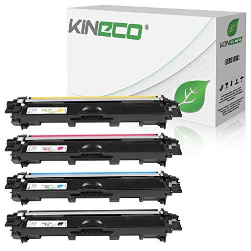 Kineco 4 Toner kompatibel für Brother TN-242 TN-246 für Brother DCP-9017CDWG1 9017CDWG1 9022CDW HL-3142CW 3172CDW 3152CDW MFC-9142CDN 9342CDW 9332CDW - Schwarz 2.500 Seiten, Color je 2.200 Seiten