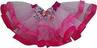 Tutú para niña, rosa, con moño de princesas y pretina de tafeta.