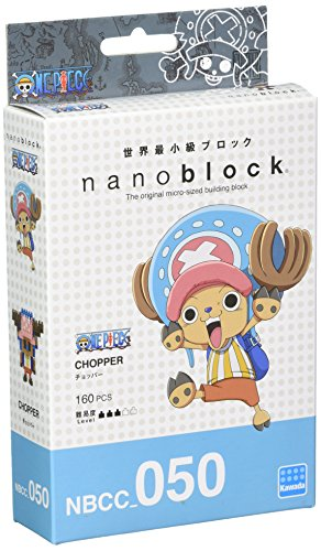 Nanoblock One Piece Chopper Gioco di Costruzione, Colore Rosa, Marrone, Blu, Bianco, Marroncino Chiaro, NB-CC050 , Modelli/Colori Assortiti, 1 Pezzo
