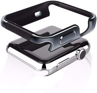 qichenlu - Carcasa protectora para Apple Watch 44 mm, resistente a los golpes, metal, compatible con Apple Watch 44 mm