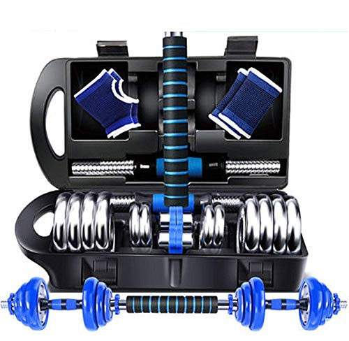 YLJYJ Fitness Dumbbells Barbell Cast Iron 2 in 1 Sets Home Gym with Connector Adjustable Non-Slip Free Weights Plate Body Workout Men Women Strength Training Sets,B,30kg