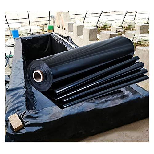 YJFENG Flexible Revestimientos De Estanque, 100% Impermeable Pieles De Estanque 0,8 Mm Lámina De Plástico Película De Protección para Estanque De Peces Quinielas (Color : Black, Size : 2x4m)