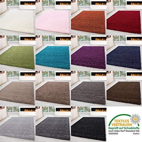 HomebyHome Shaggy Hoogpolig- Langpolig tapijt, loper, woonkamer, soft-eenkleurig, rechthoekig, rond
