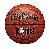 Wilson Pelota de Baloncesto JR NBA Authentic Series, Interior/Exterior, Cuero Mixto, Tamaño: 7, Marrón