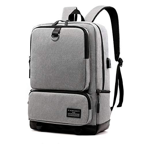 CARLAMPCR Mochila para portátil para Hombre Mochila de Viaje de Negocios Impermeable de 15,6 Pulgadas con Carga USB Mochila para Universidad de Negocios de Ocio PC portátil