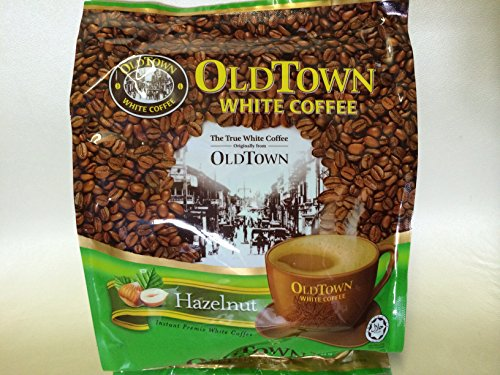 OLD Town (3 in 1)- Taste Premix White Hazelnut Coffee-don't Need Creamer & Sugar-make Your Life Easier-(35g - 40g) /Sticks (Hazelnut)