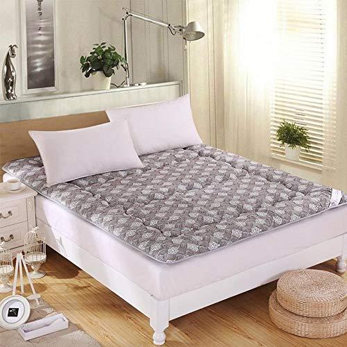 GFYL Premium-Schlafmatratzenauflage Schlafende japanische Futon-Tatami-Matte, Gesteppte, angepasste Matratze rutschfeste, Faltbare Kissenmatten,D,90 * 200cm(35 * 78inch)