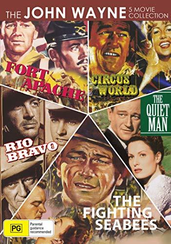 5 Movie Collection - Circus World / Fort Apache / The Quiet Man / Rio Bravo / The Fighting Seabees - John Wayne Set - DVD