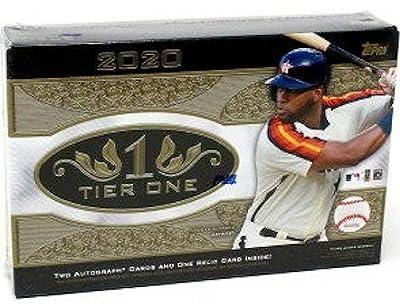 2020 Topps Tier One MLB Baseball box (3 cards)