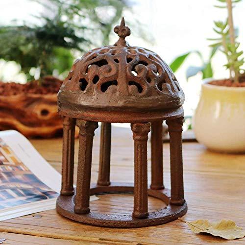 erddcbb Adornos arquitectónicos de Castillo de Hierro Fundido Vintage, Columna Romana, jardín,...