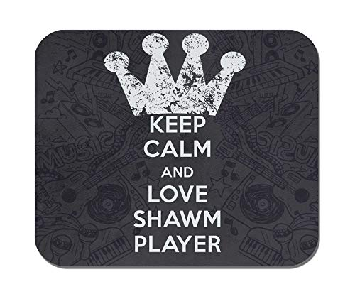 Makoroni - Keep Calm and Love Shawm Player - Non-Slip Rubber - Computer, Gaming, Office Mousepad