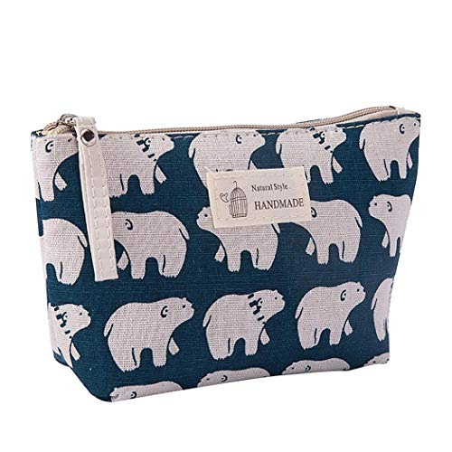 Cotton Linen Large Capacity Makeup Bag Multifunction Print Travel Cosmetic Bag Change Bag 1PC