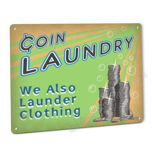 Funny Coin Laundry Retro Schild/Wandschild
