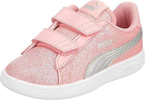 PUMA Damen Smash v2 Glitz Glam V Inf Sneaker, pink, 39 EU