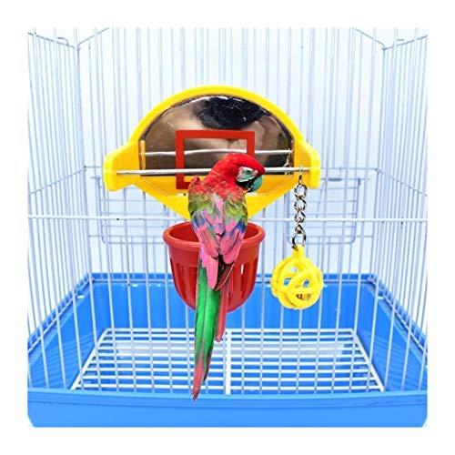 WYHM Juguetes De Aves Divertido Parrot Pájaros Juguetes Mini Baloncesto Hoop Precs Parakeet Bell Ball Ball Juguete Dropshipping