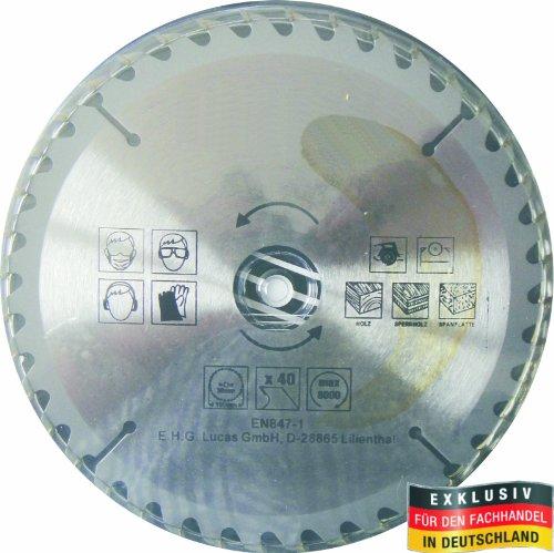 Masterproof Lame de scie circulaire en métal, 190 mm, 40 dents, trempé spécial pour toute travail du bois