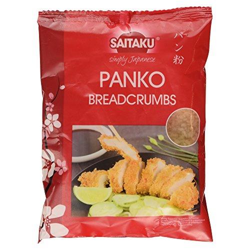 Saitaku - Pan rallado Panko - 150 g - Pan rallado japonés - Más crujiente y esponjoso - Perfecto con camarones, salmón, pollo y verduras - Cobertura crujiente