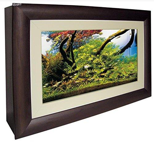ACQUARIO QUADRO WALL AQUARIUM - Acquario in vetro da parete completo di struttura in legno apribile frontalmente. Completo di sistema di illuminazione, mini-filtro interno con portata regolabile, termoriscaldatore e timer digitale.