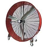 MaxxAir High Velocity Industrial Belt Drive Barrel Fan. Heavy Duty Rolled Steel Housing (60 Inch Barrel Fan, Red)