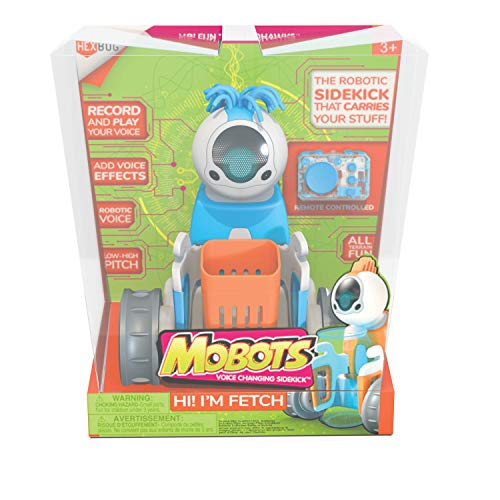 HEXBUG MoBots Fetch - Remote Control Record and Talking Robot Kit with Motor Lights and Sound - Smart Interactive Educational Toys for Kids - Ages 3+ - Batteries Included (Colors and Styles May Vary)