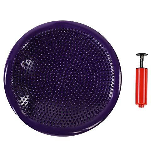 Cojín popular de yoga, PVC hecho para la recuperación del tobillo con color de la bomba (púrpura)