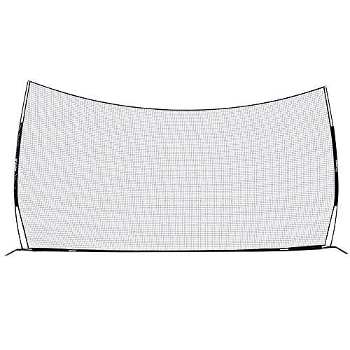Champion Sports Lacrosse Backstop Net: Rhino Flex Lacrosse Goal Backstop Barrier Net - Portable Ball Stop/Barrier Netting with Carry Bag - 21' x 11'