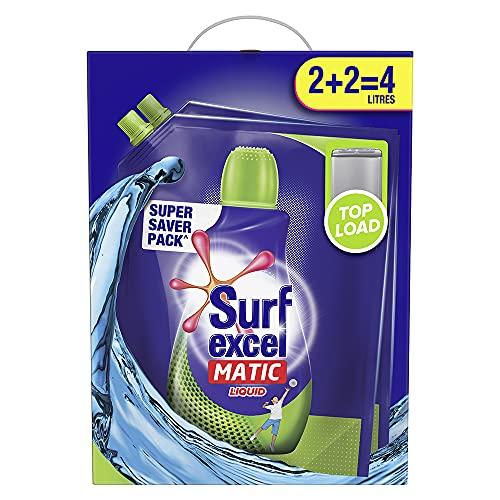 Surf Excel Matic Liquid Detergent Top Load 2+2 ltr Carton